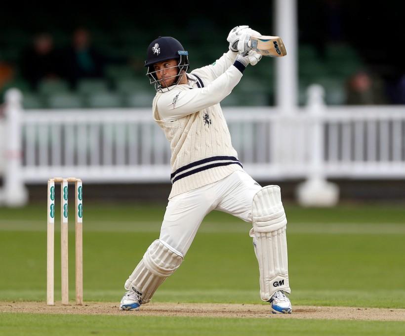 Dickson hits century on day 1 at Bristol