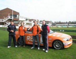 Team RAC race into The St Lawrence Ground