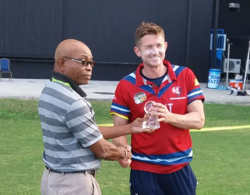 Denly hits 96 & spinners thrive in USA win