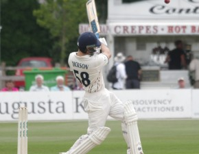 Dickson hits post-war record score as Kent pile on runs at Beckenham