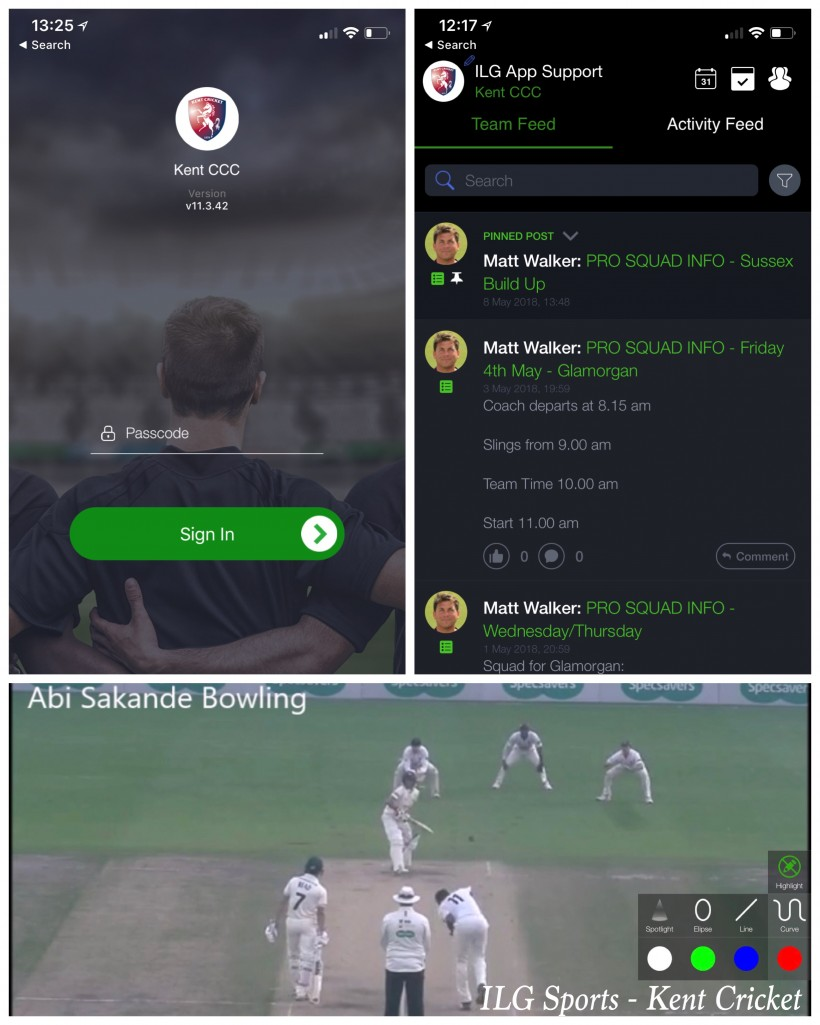 Kent use app to monitor and support players