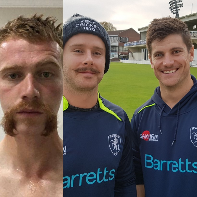 Kent trio up to the 'tache for Movember