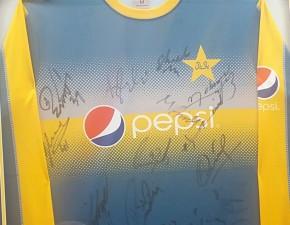 Win signed Pakistan Champions Trophy shirt
