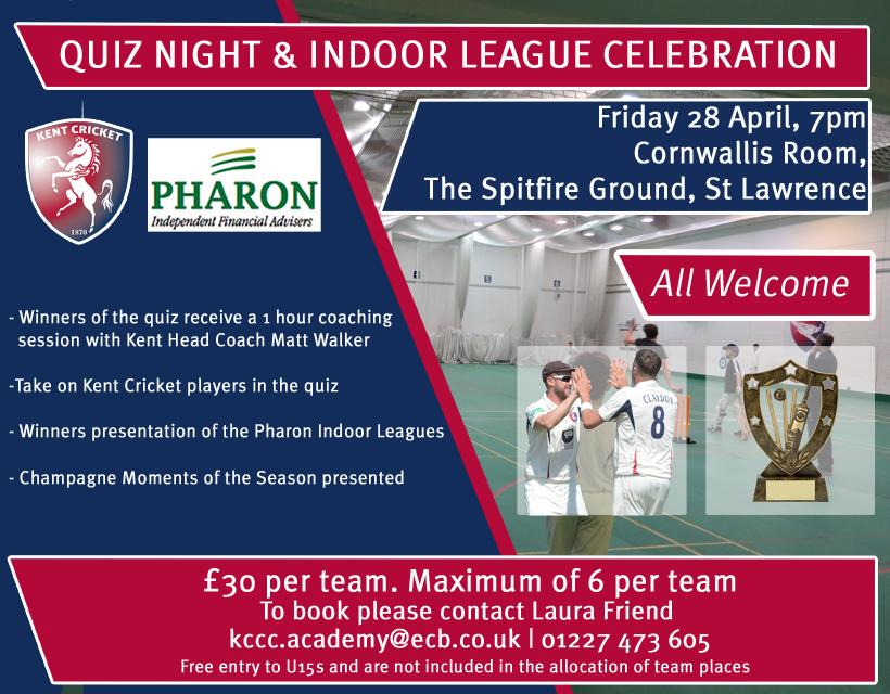 Cricket Quiz and Indoor League Celebration Evening