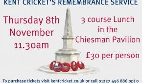 Kent Cricket's Remembrance Service