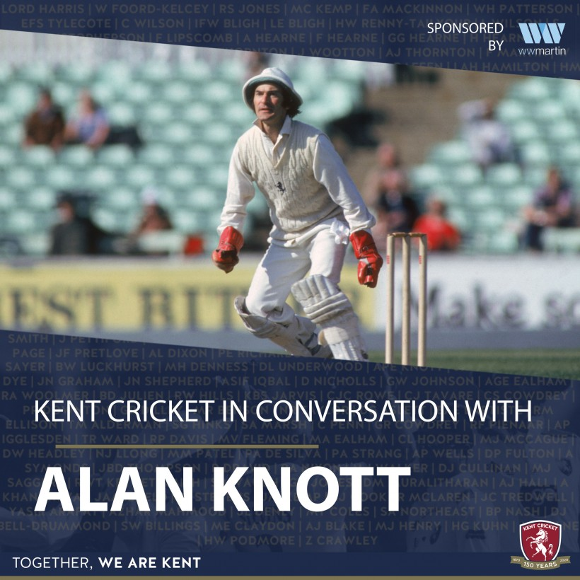 WATCH Kent Cricket in conversation with Alan Knott MBE