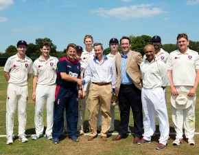 Charlie Harris thanked for support for Kent cricket talent