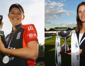 Kent's Charlotte Edwards and Lydia Greenway excel for England