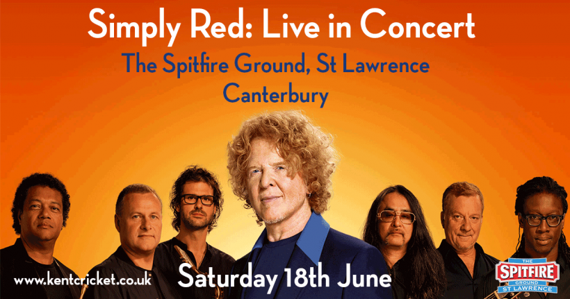 Simply Red concert hospitality packages now on sale | Kent County