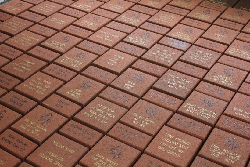 First Legends' Walkway bricks produced