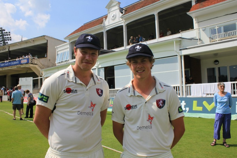 Coles and Northeast honoured with county caps in Canterbury Week presentation