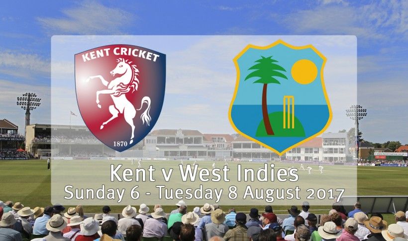 Kent to play West Indies at The Spitfire Ground in August 2017