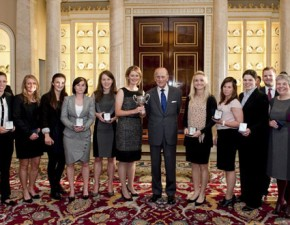 Kent Women Receive Championship Trophy at Buckingham Palace