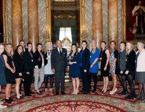 Kent Cricket Women's Team receives County Championship trophy at Buckingham Palace