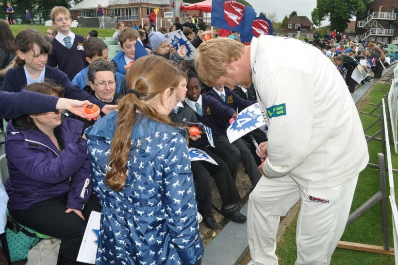 A thousand children enjoy Schools' Day at the Spitfire Ground, St Lawrence